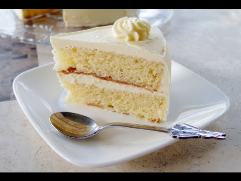 Vegan Vanilla Cake with Layers and Frosting Recipe